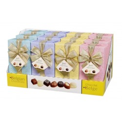 Belgian Milk Chocolate Pralines Gift Wrapped Ballotin Box