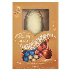 Lindor Milk Chocolate Egg & Lindor Assorted Mini Eggs (215g)