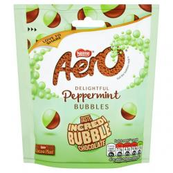 Aero Bubbles Peppermint Mint Chocolate Pouch Sharing Bag (102g)